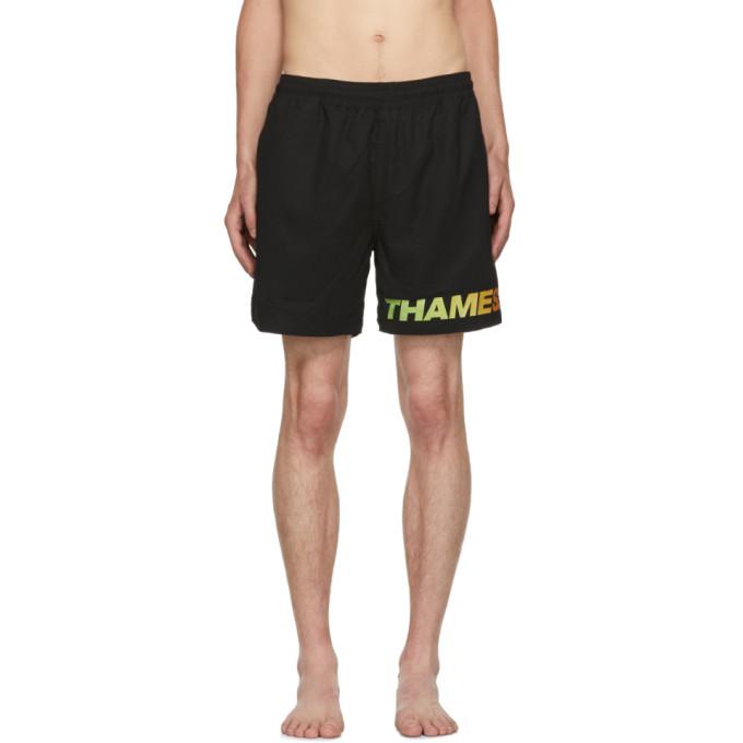 Image of Thames Black Fantastic Swim Shorts