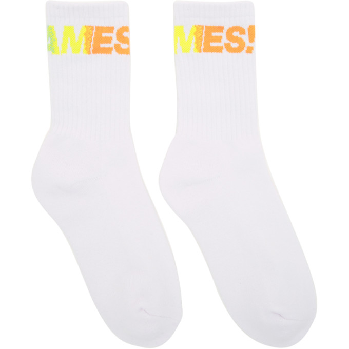 Image of Thames White Fantastic Socks
