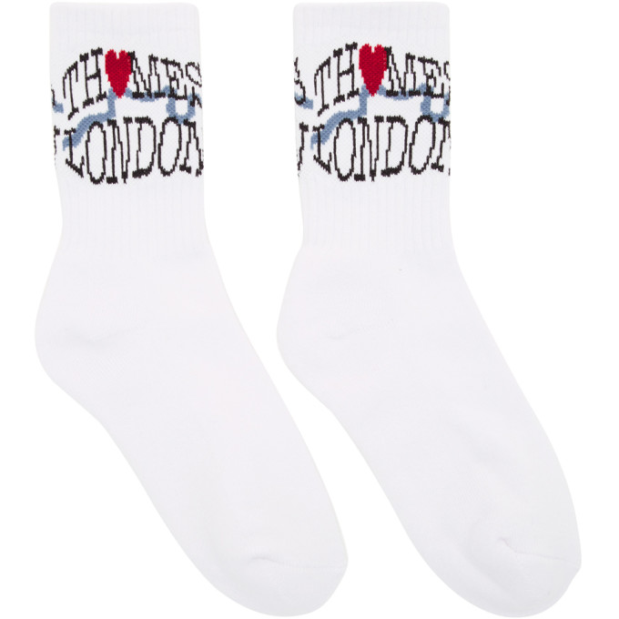 Thames White Tourist Socks