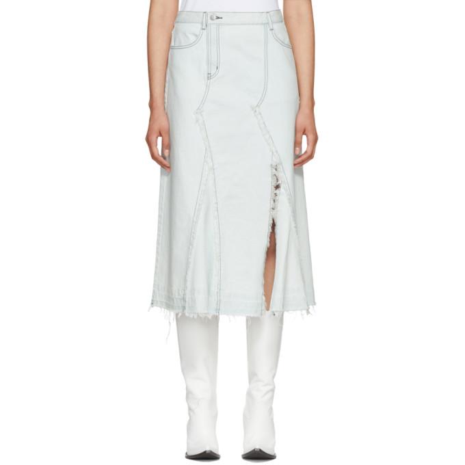 Image of Wheir Bobson Blue Denim Remake Skirt