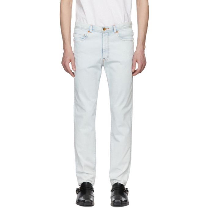 Wheir Bobson Blue Bleach Slim Jeans