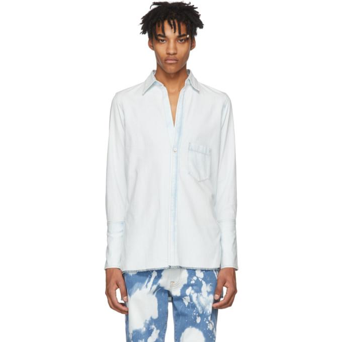 Wheir Bobson Blue Denim Long Shirt