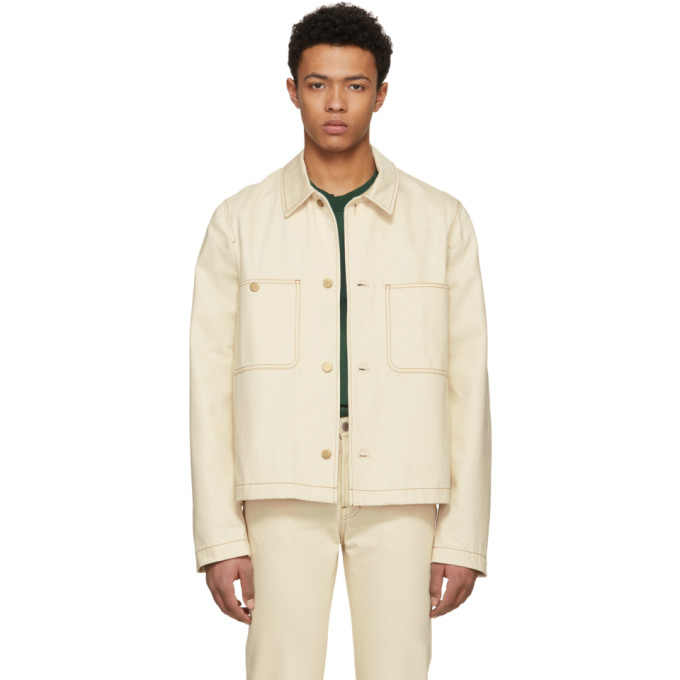 Image of Acne Studios Blå Konst Off-White Denim Unreal Jacket