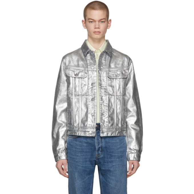 Image of Acne Studios Blå Konst Silver Denim Tent Jacket