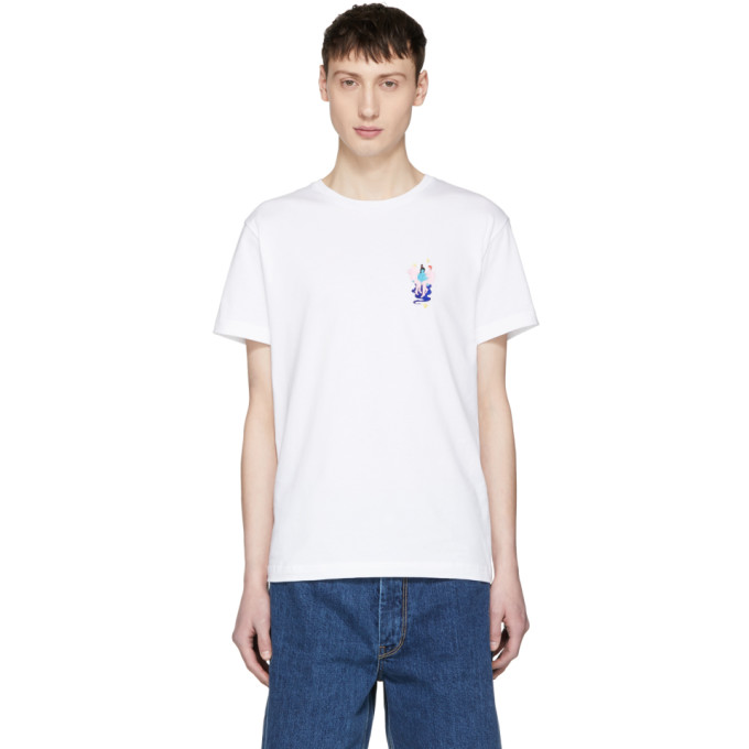 Image of Carne Bollente White 'Aladdin' Embroidered T-Shirt