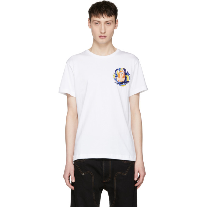 Image of Carne Bollente White 'Jumanjizz' T-Shirt
