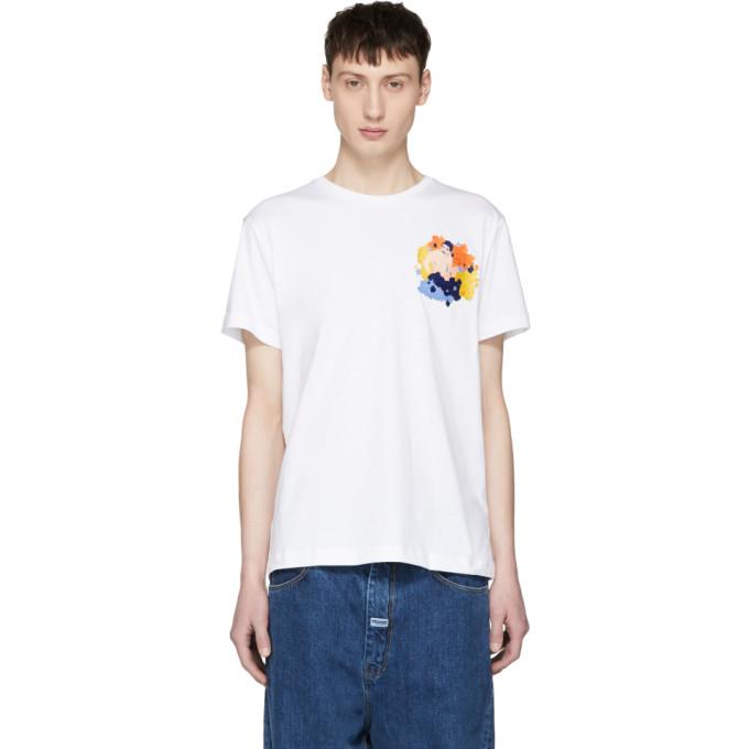 Image of Carne Bollente White 'Le Boner Est Dans Le Pré' Embrodiered T-Shirt