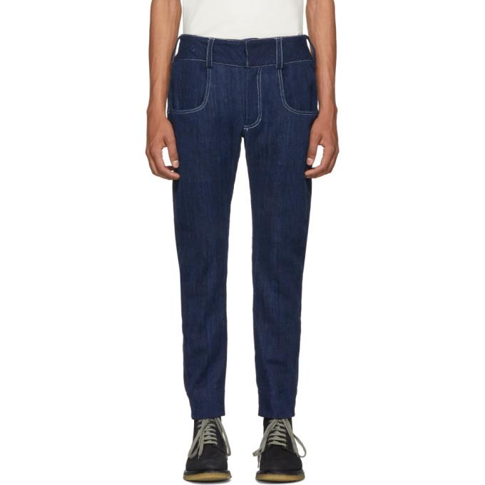 Image of St-Henri SSENSE Exclusive Blue Pompiste Jeans