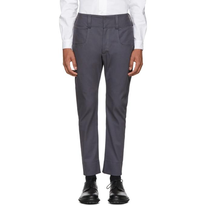 Image of St-Henri SSENSE Exclusive Grey Baseball Trousers