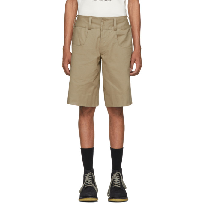 Image of St-Henri SSENSE Exclusive Beige Tailgate Shorts