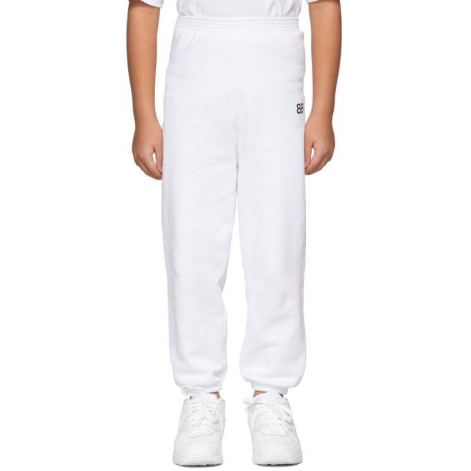 Image of Balenciaga Boy White 'BB' Lounge Pants