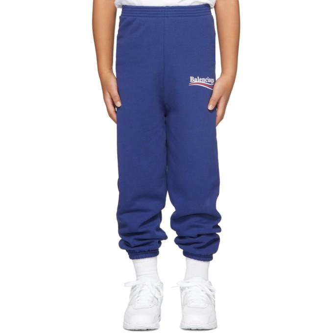 Image of Balenciaga Boy Blue Campaign Logo Lounge Pants