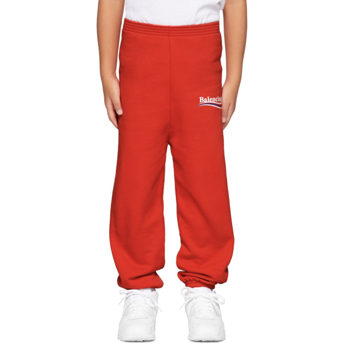 Image of Balenciaga Boy Red Campaign Logo Lounge Pants