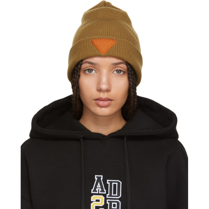 Image of ADER error Tan Triangle Beanie