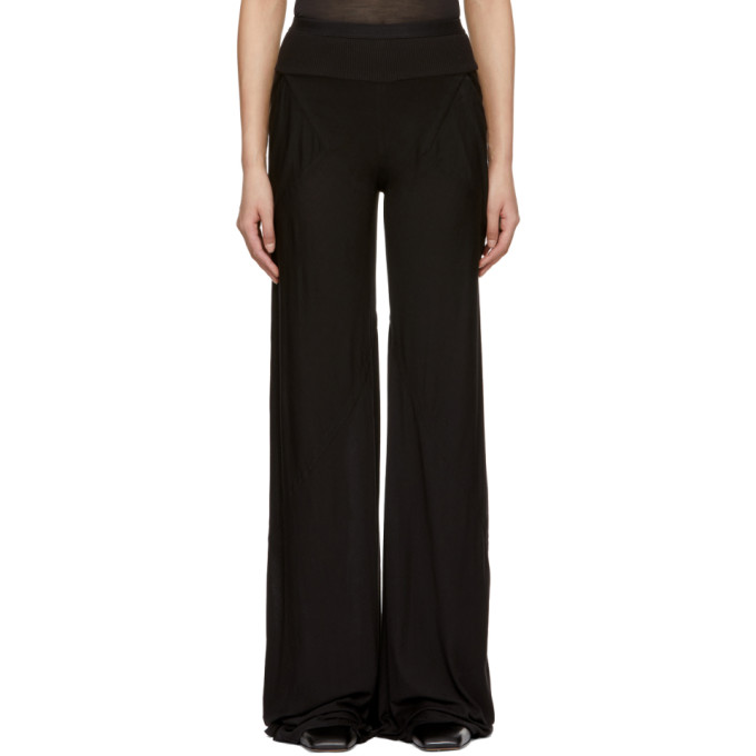 Image of Rick Owens Lilies Black Wide-Leg Lounge Pants
