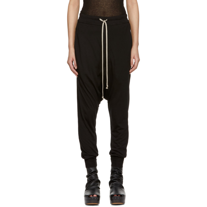 Image of Rick Owens Lilies Black Cargo Back Lounge Pants