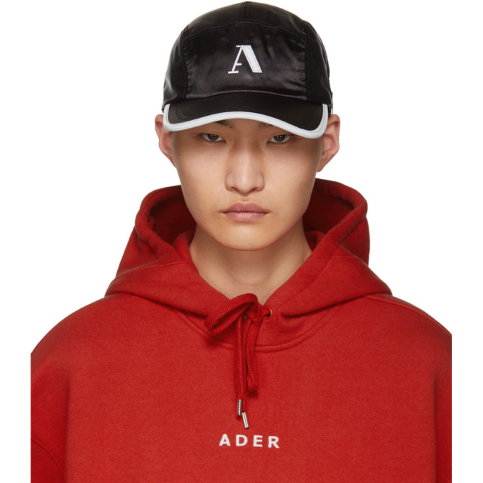 Image of ADER error Black Side-Snap Camp Cap