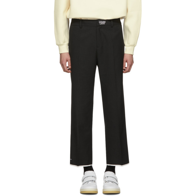 ADER error Black Genreless Trousers