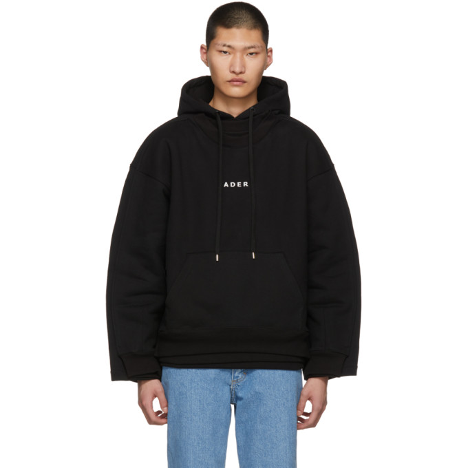 ADER error Black Sewing Hoodie Sweatshirt