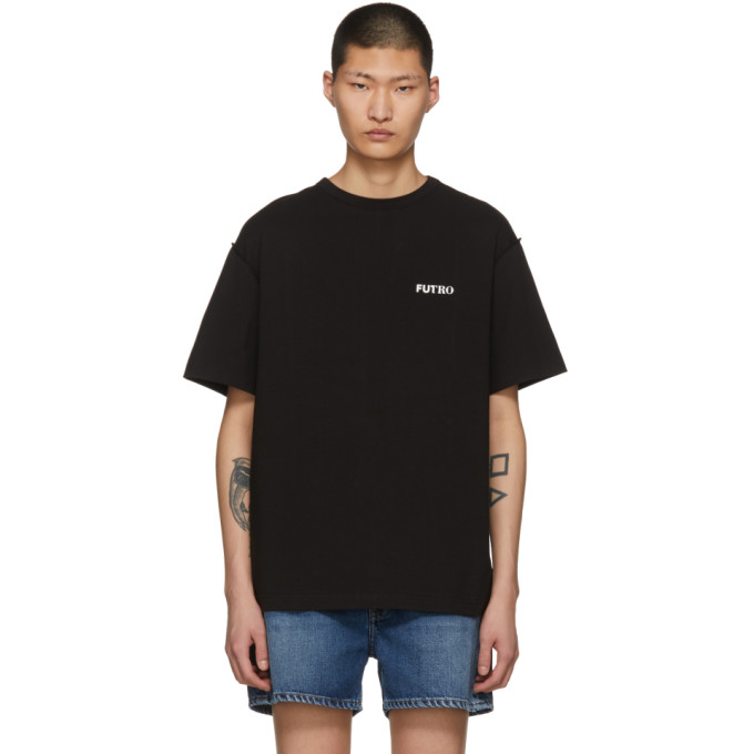 Image of ADER error Black 'Futuro' T-Shirt