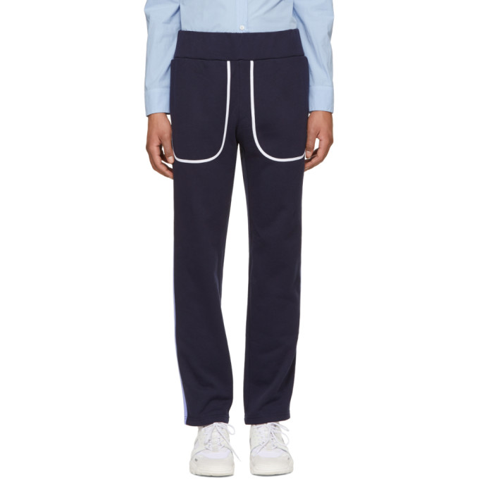 Image of Daniel W. Fletcher Navy Side Stripe Lounge Pants