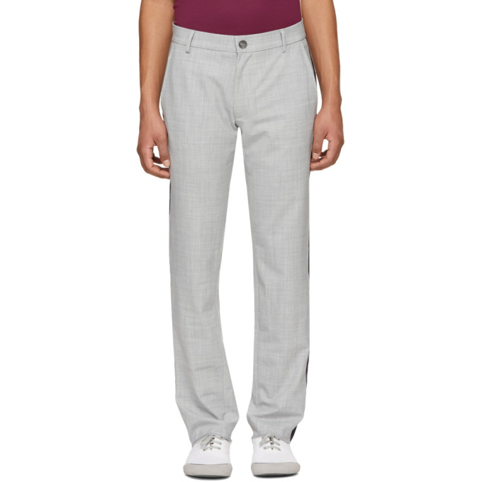 Image of Daniel W. Fletcher Grey Side Stripe Trousers