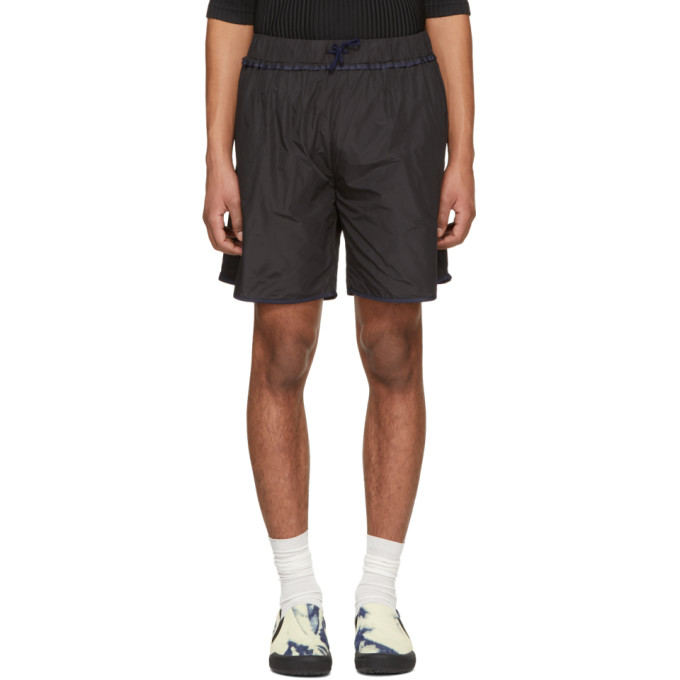 Image of Daniel W. Fletcher Black Contrast Binding Shorts