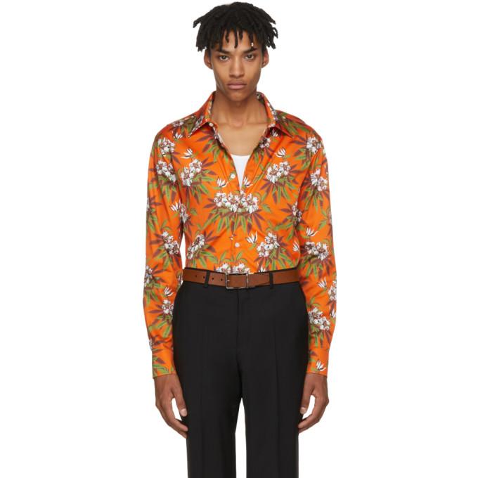 Image of SSS World Corp Orange Weed Hibiscus Danger Shirt