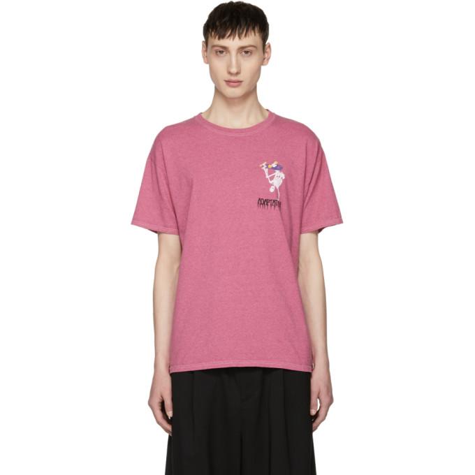 Image of Adaptation Pink 'Adapt Or Die' Skater Vintage T-Shirt