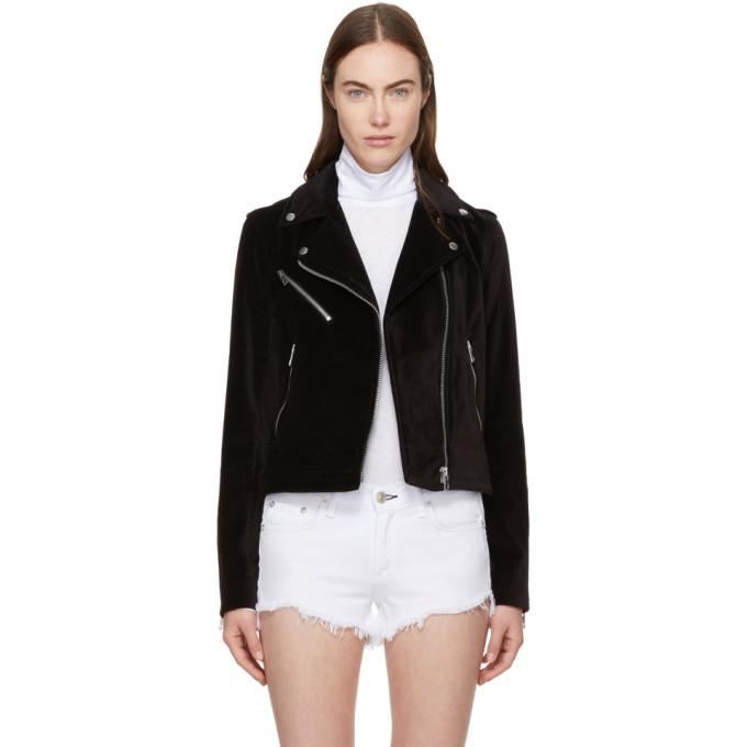 Rag & Bone Black Velvet Mercer Jacket