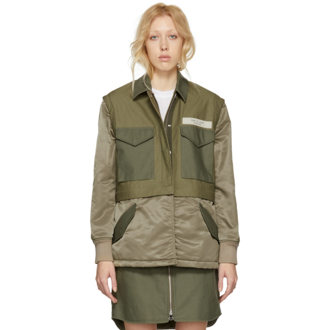 Rag & Bone Green Modular Field Jacket