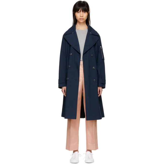 Rag & Bone Navy Ace Trench Coat
