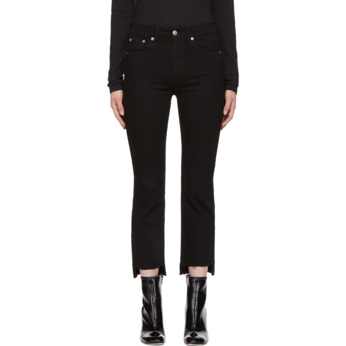 Rag & Bone Black Stovepipe Jeans