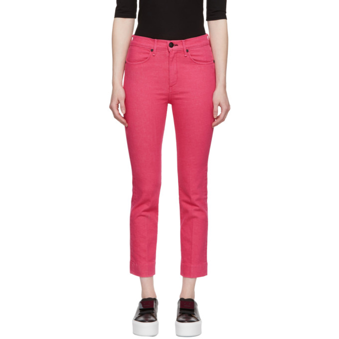 Rag & Bone Pink Ankle Cigarette Jeans