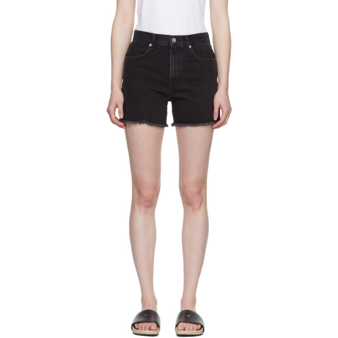 Rag & Bone Black Denim Torti Shorts