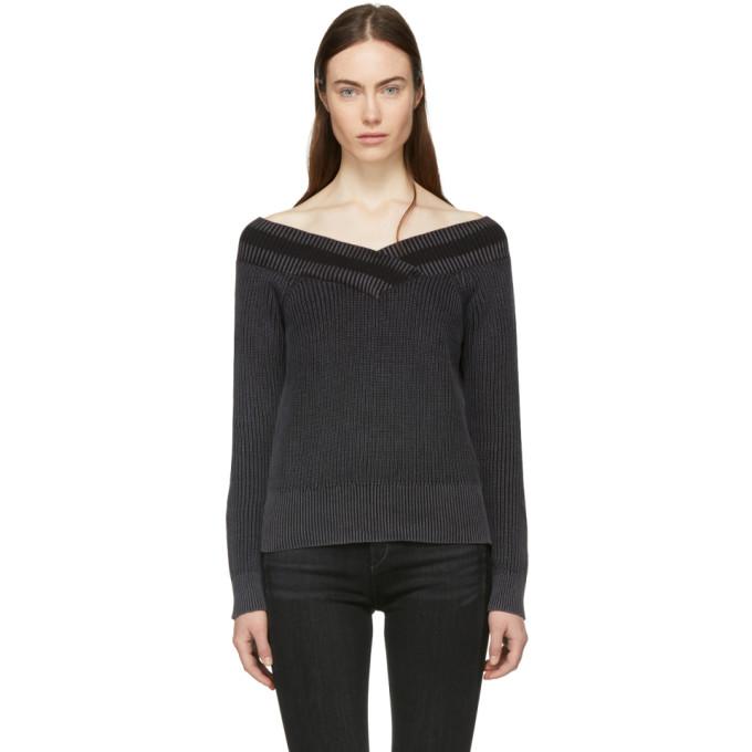 Rag & Bone Black Dawn Off-the-Shoulder Sweater
