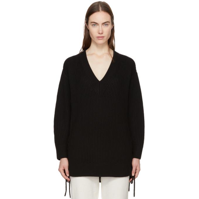 Rag & Bone Black Ivy Lace-Up Sweater