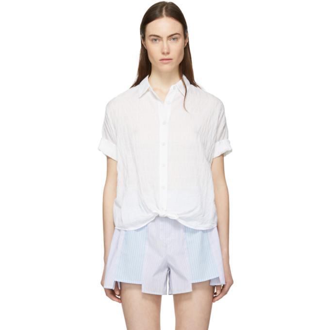 Rag & Bone White Tie Shirt