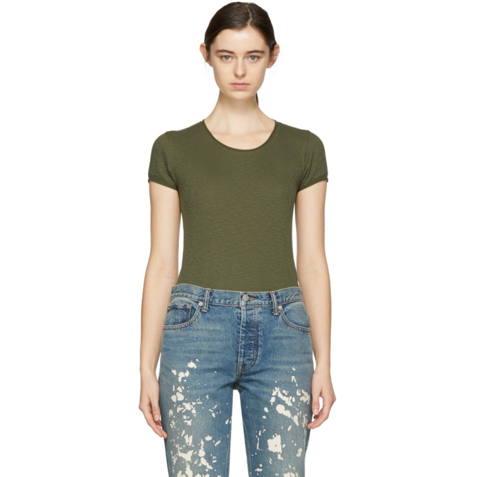 Rag & Bone Green Lilies T-Shirt