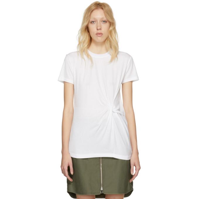 Rag & Bone White Mardina Drape T-Shirt