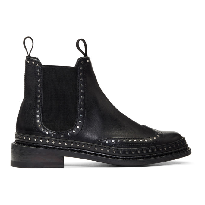 Image of Rag & Bone Black Benson Chelsea Boots