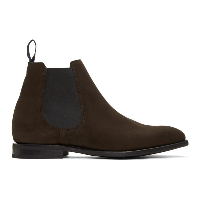 Image of Church's Brown Suede Prenton Chelsea Boots