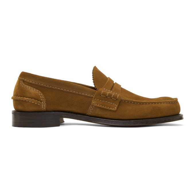 Image of Church's Tan Suede Pembrey Loafers