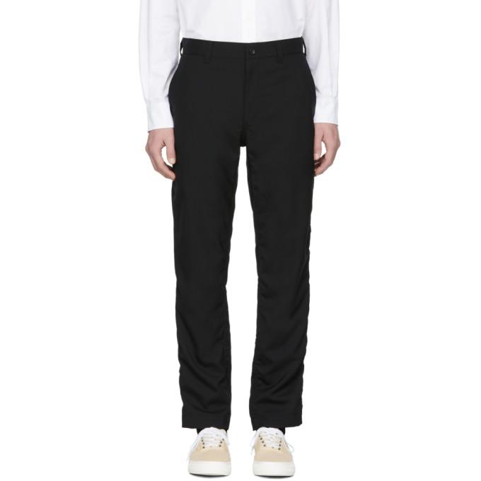 Image of Comme des Garçons Homme Black Tropical Wool Trousers