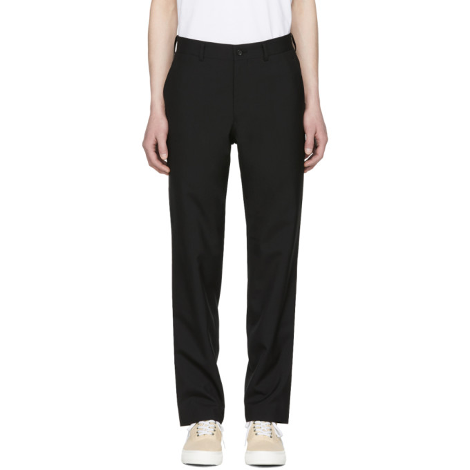 Image of Comme des Garçons Homme Black Hopsack Trousers
