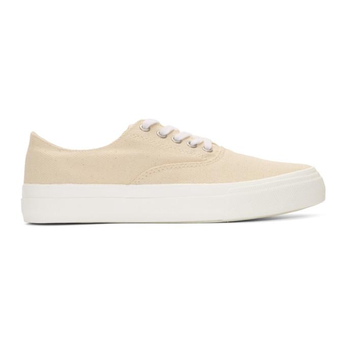 Image of Comme des Garçons Homme Beige Canvas Sneakers
