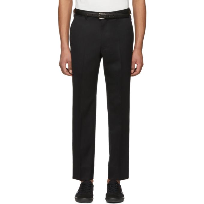 Image of Comme des Garçons Homme Deux Black Tropical Wool Trousers