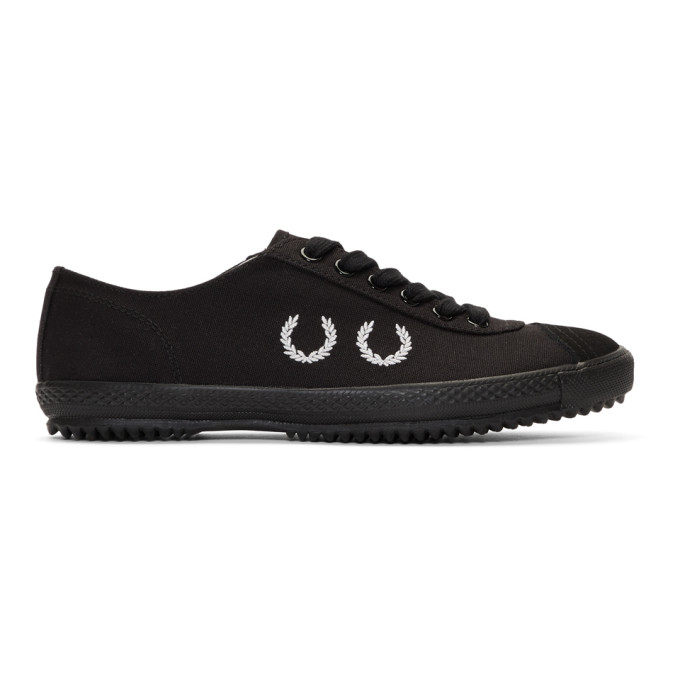Image of Comme des Garçons Homme Deux Black Fred Perry Edition Sneakers