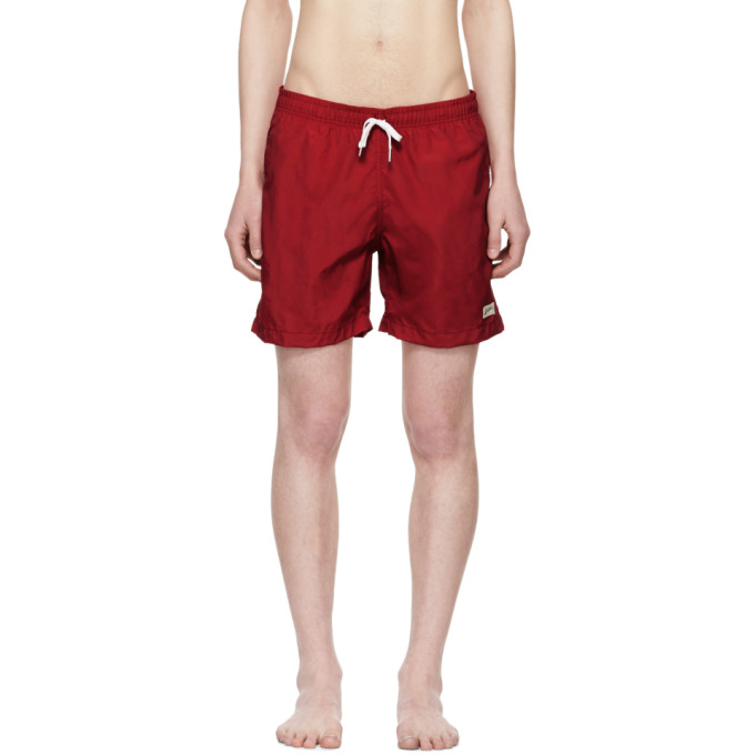 Image of Bather Red Solid Swim Shorts