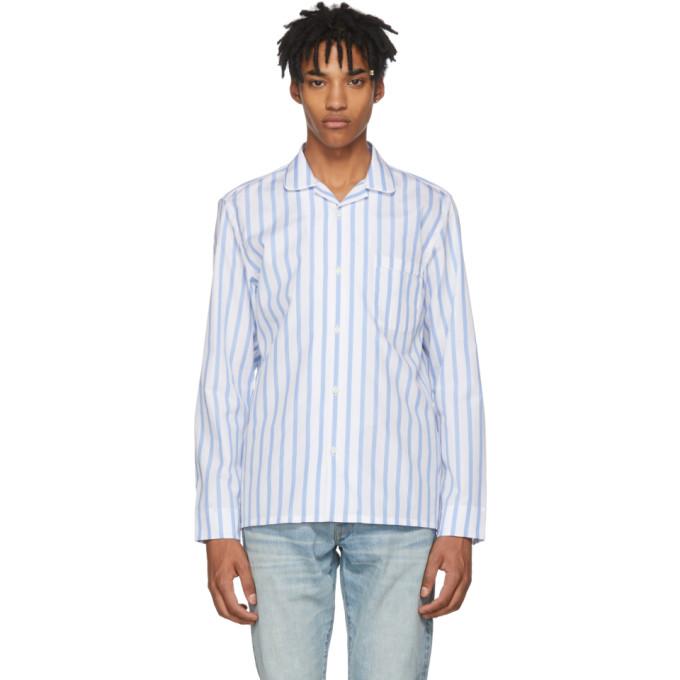 Image of Cobra S.C. Blue & White Striped Cabriolet Shirt